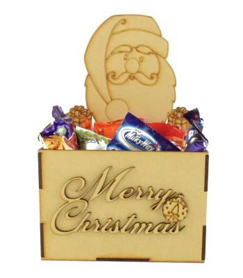 Laser Cut Christmas Hamper Treat Boxes - Christmas Santa Shape