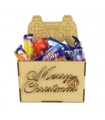 Laser Cut Christmas Hamper Treat Boxes - Playstation Controller Shape