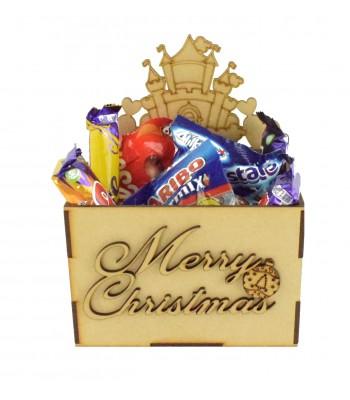 Laser Cut Christmas Hamper Treat Boxes - Princess Castle Shape