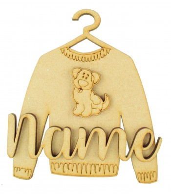 Laser Cut Personalised 3D Christmas Jumper Decoration - Dog