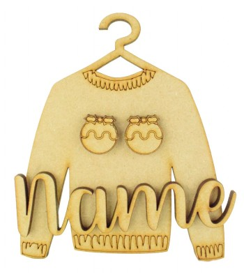 Laser Cut Personalised 3D Christmas Jumper Decoration - Christmas Puddings