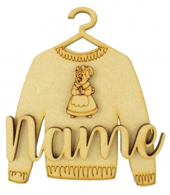 Laser Cut Personalised 3D Christmas Jumper Decoration - Mrs Claus