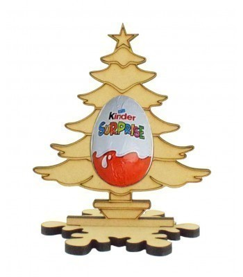 6mm Christmas Tree Kinder Egg Holder on a Snowflake Shape Stand