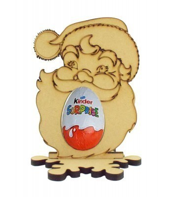 6mm Santa Head Kinder Egg Holder on a Snowflake Shape Stand