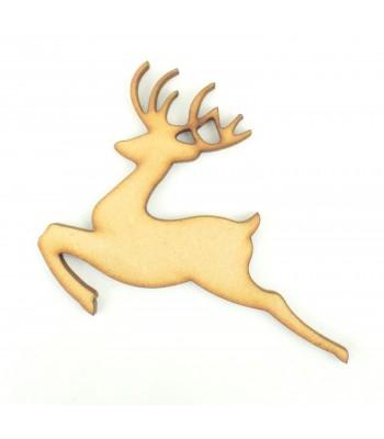 Laser Cut Leaping Reindeer Shape