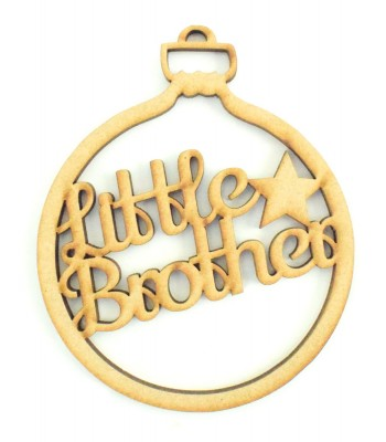 Laser Cut 'Little Brother' Bauble