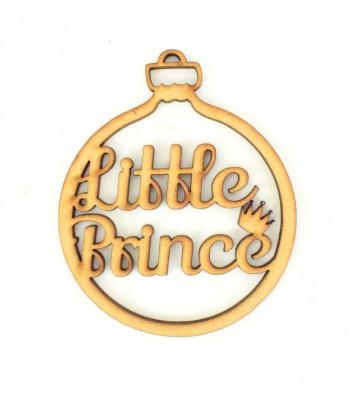 Laser Cut 'Little Prince' Christmas Bauble