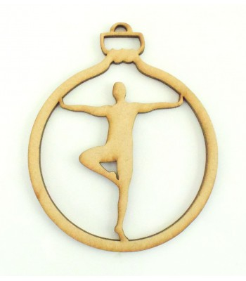 Laser Cut Male Ballet Dancer Christmas Bauble
