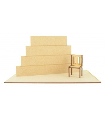Miniature Stacking Blocks with Laser Cut Chair and Base