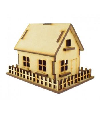 Laser Cut Miniature 3D House