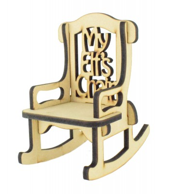 Laser cut 6mm 'My Elf's Chair' Rocking Chair