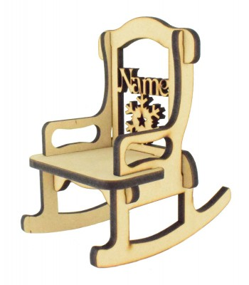 Laser cut 6mm Personalised Rocking Chair