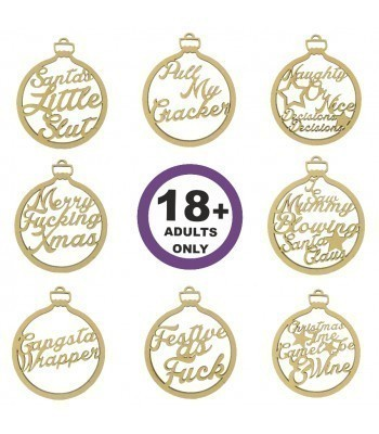 Laser Cut Over 18's Christmas Baubles - Options