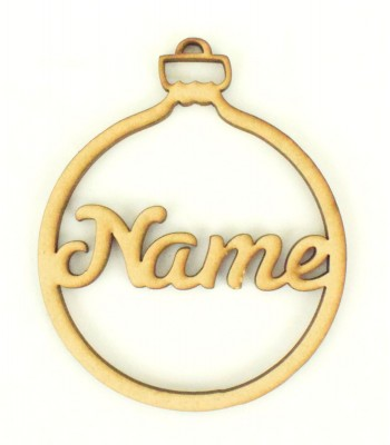 Laser Cut Personalised Christmas Bauble - 100mm Size - S Script Font