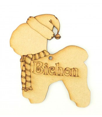 Laser Cut Personalised Dog Decoration with Etched Names