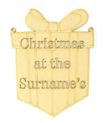 Laser Cut Personalised 'Christmas At The...' Stencil Christmas Present - S Stencil