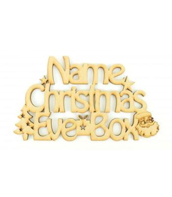 Laser cut Personalised 'Christmas Eve Box' Santa sign.