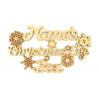 Laser cut Personalised 'Christmas Eve Box' Snowflake sign.