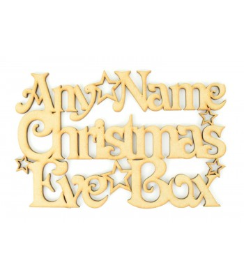 Laser cut Personalised 'Christmas Eve Box' Sign with Stars