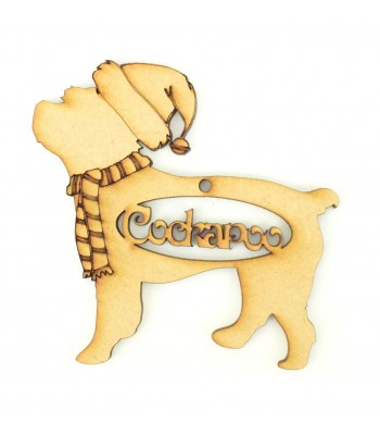 Laser Cut Personalised Dog Decoration with Names in the center