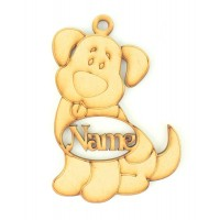 Laser Cut Personalised Dog Shape Bauble - 130mm Size
