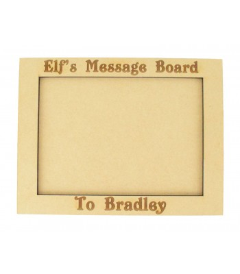 Personalised Laser Engraved 'Elf's Message Board' Chalkboard