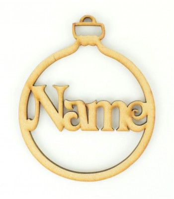 Laser Cut Personalised Christmas Bauble - 100mm Size - Vic Font