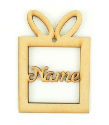 Laser Cut Personalised Present Bauble - 100mm Size - S Script