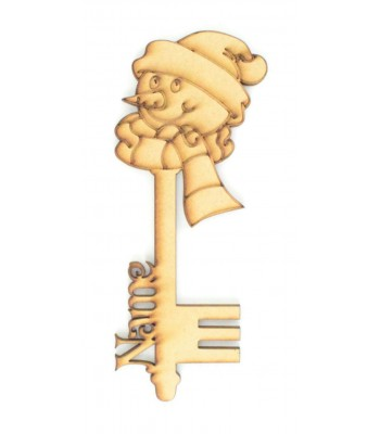 Laser Cut Personalised Magic Detailed Snowman Christmas Key
