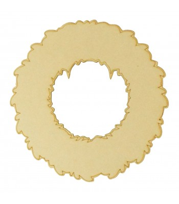 Laser Cut Plain Wreath Plaque