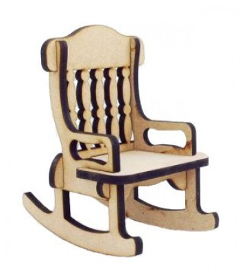 Laser cut 6mm Plain Rocking Chair - BULK BUY