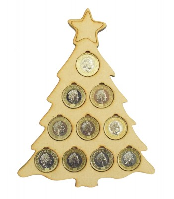 Laser cut Christmas Tree £1 Coin Holder