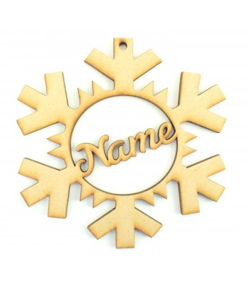 Laser Cut Personalised Christmas Snowflake Bauble - 120mm Size