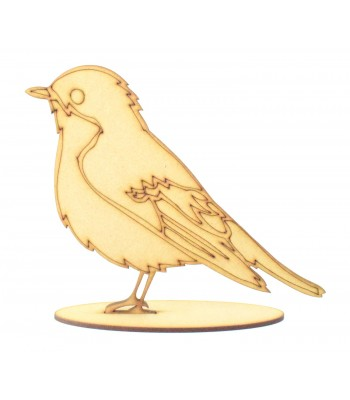 Laser Cut Christmas Robin on a Stand