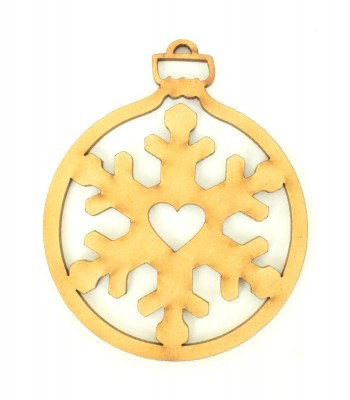 Laser Cut Snowflake Christmas Bauble