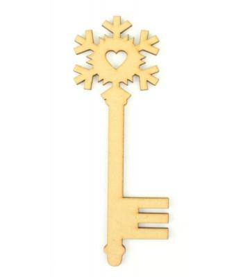 Laser Cut Magic Snowflake Heart Christmas Key