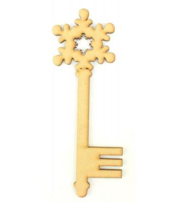 Laser Cut Magic Rounded Snowflake Christmas Key