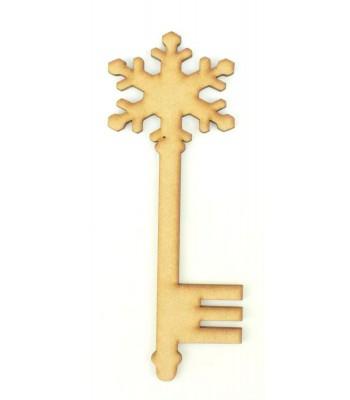 Laser Cut Magic Plain Snowflake Christmas Key