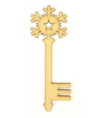 Laser Cut Magic Snowflake Star Key