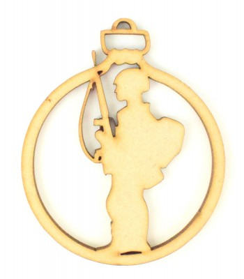 Laser Cut Soldier Christmas Bauble