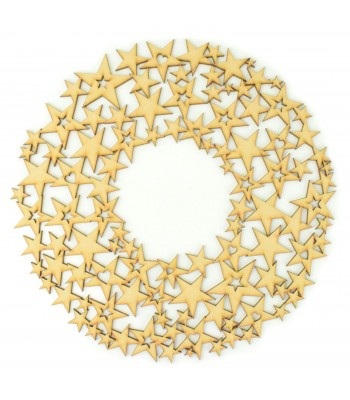 Laser Cut Christmas Star Wreath