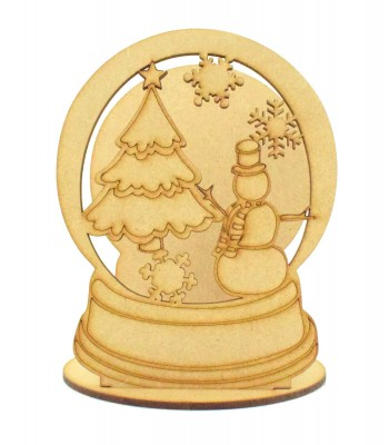 Laser Cut Mini Christmas Snow globe Tealight Holder