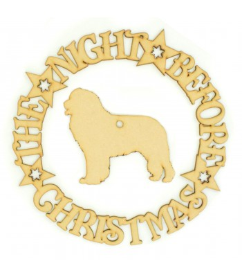 Laser cut 'The Night Before Christmas' Wreath with a Dog Silhouette of your choice.