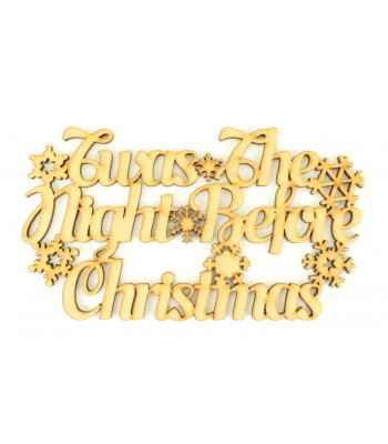 Laser cut 'Twas the night before Christmas' Sign.