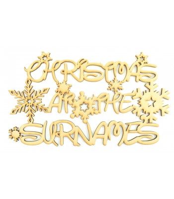 Laser Cut Personalised 'Christmas At The...' Disney Font Sign