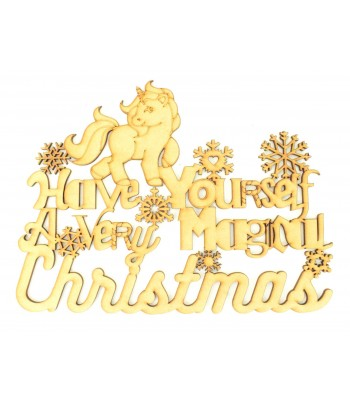 Laser cut 'Have yourself a very magical Christmas' Quote Sign