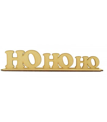 Laser cut 'HoHoHo' on a stand