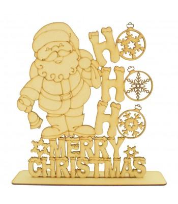 Laser cut 'HoHoHo Merry Christmas' Santa Sign on a stand