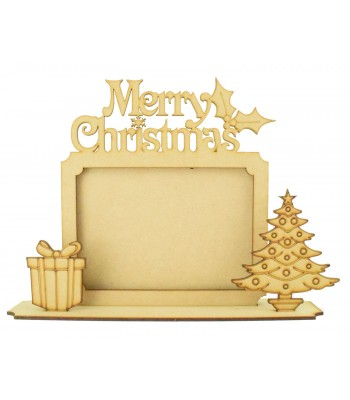 Laser cut 'Merry Christmas' Photo Frame on a stand