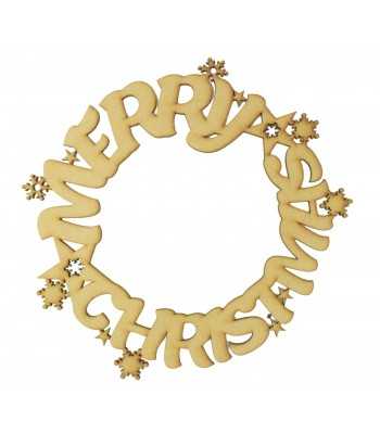 Laser Cut 'Merry Christmas' Wreath